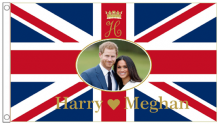 Prince Harry & Meghan Markle Wedding Engagement 5'x3' (150cm x 90cm) Flag